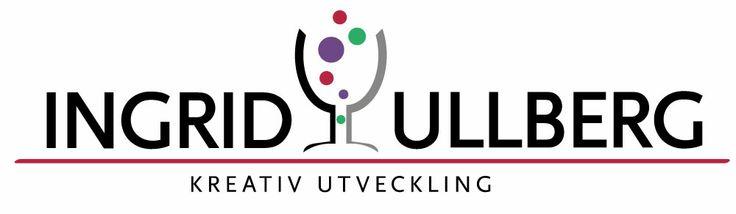 Logotype för Ingrid Ullberg skapad utifrån en liknelse i hennes personliga brev där ett glas champange symboliserar både kreativiteten och erfarenheten.