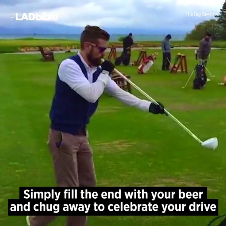 A beer bong made for the golf course...
