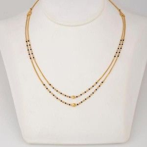 Simple and elegant two row mangalsutra