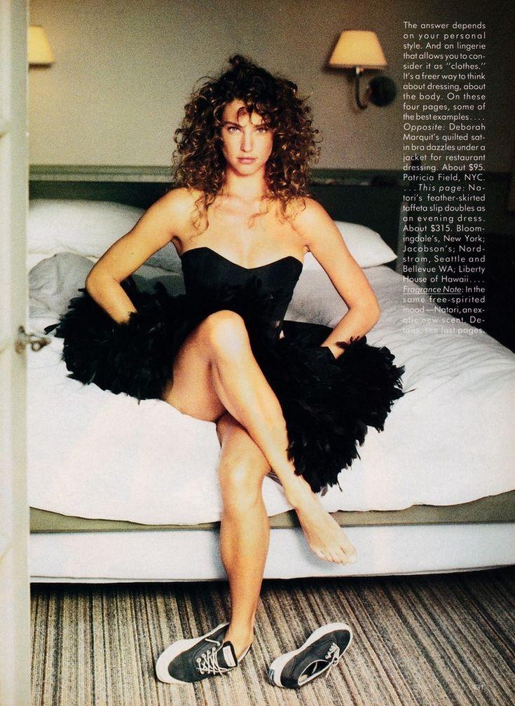 US Vogue November 1987 ... or is it lingerie? Ph: Andrea Blanch Model: Jill Goodacre Hair: Danilo for Oribe Makeup: Rumiko