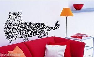 Pegatina decorativa pared Animales Salvajes Leopardo Vinilo decorativo 110*52cm. Convierta su salón o sala de estar en una jungla con esta pegatina de carácter salvaje.