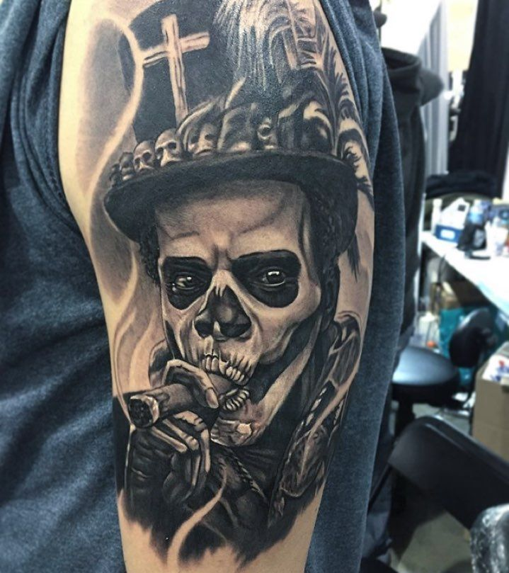 @bmerck_ink killin it at the Philadelphia Tattoo Arts Convention last week! #THESEANCETATTOOPARLOR #INDEATHTHEYLIVE by theseancetattooparlor