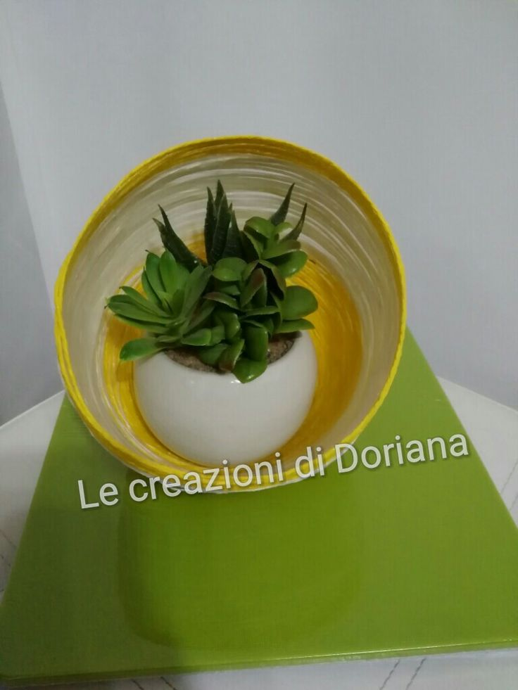 Vaso da cucina realizzato con lo spago www.lecreazionididoriana.wordpress.com