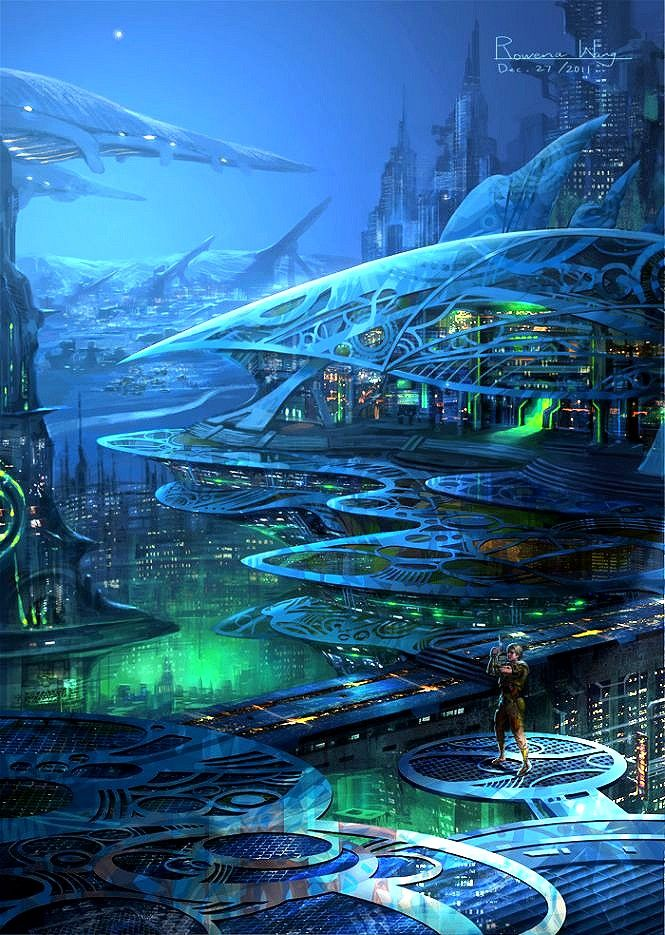 Monopolis City of the Future by Rowena Wang. #CityoftheFuture  #RowenaWang