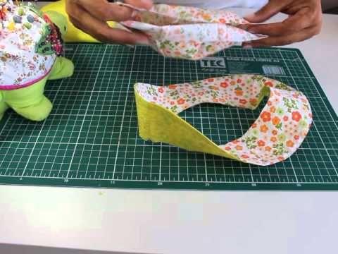 Chapeuzinho para criança em tecido