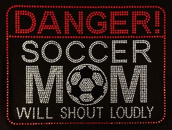 Rhinestone Soccer Mom T-Shirt - Bling Shirt by DesignsbyDaffy on Etsy