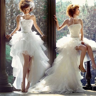 Short In Front Long Tail Wedding Dress