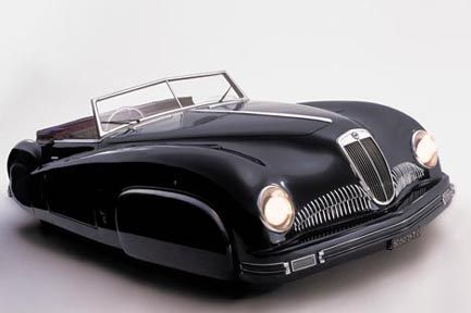 1947 Lancia Astura Convertible Pininfarina, streamlined aerodynamic sleek coachwork retro futuristic