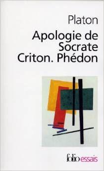 Platon. Apologie de Socrate. Criton. Phédon. Folio Essais. ISBN 9782070322862. 184 PLA. Exemplaire CDI 8527.