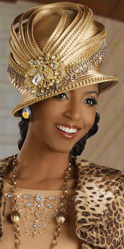 couture - gold hat