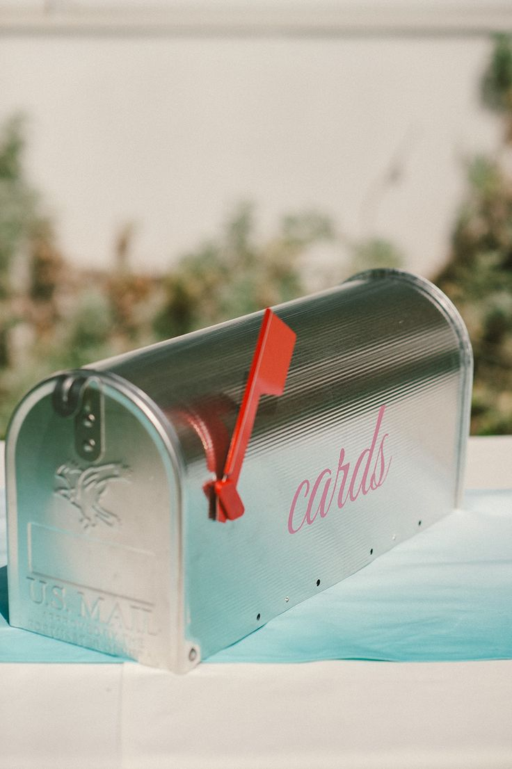 Colorful Vineyard Wedding In Lodi California Wedding Card Mailbox Wedding Mailbox Card Box Wedding