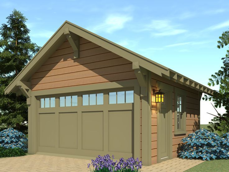 052g 0012 Craftsman Style 2 Car Garage Plan 19 X20 Craftsman House Plans Craftsman House Garage Plan