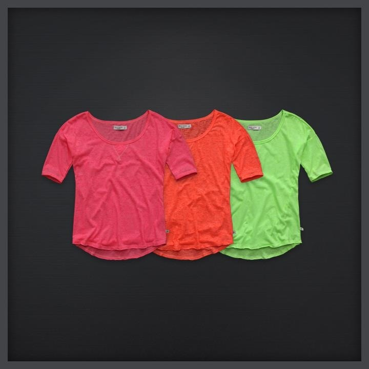 Neon shirts- if it ain't neon... it shouldn't be on!