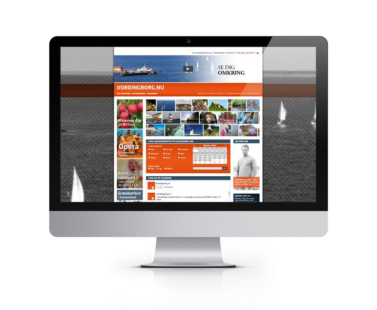 The web portal gathers events and links to the municipality's nature and cultural attractions. Also a number of citizens in the area are presented as video portraits.