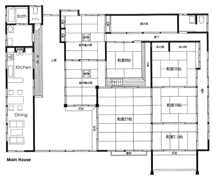Japanese floor plans go back gallery for traditional for Traditional japanese house plans