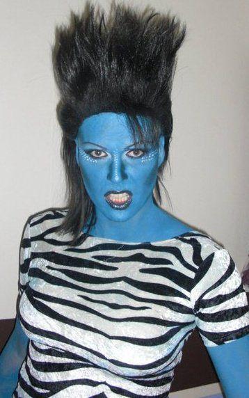 Having a blue day? #gretchen #mua #makeup #avatar