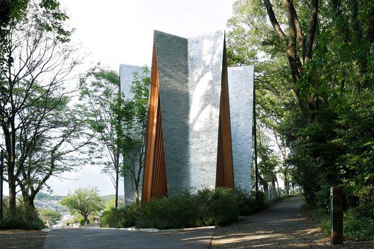 Bird's Nest Atami and Sayama Forest Chapel in Japan by Hiroshi Nakamura & NAP exteriorofchapel2