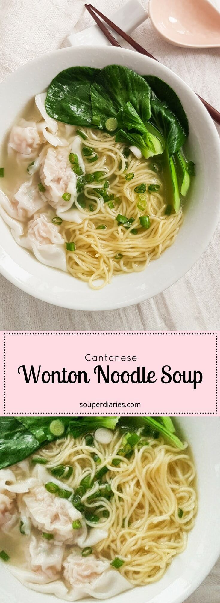 Wonton Noodles Soup Recipe (Cantonese Style)