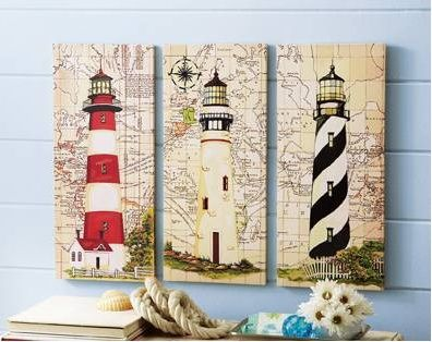 1000 images about painted lighthouse on pinterest folk for Lighthouse themed bathroom ideas
