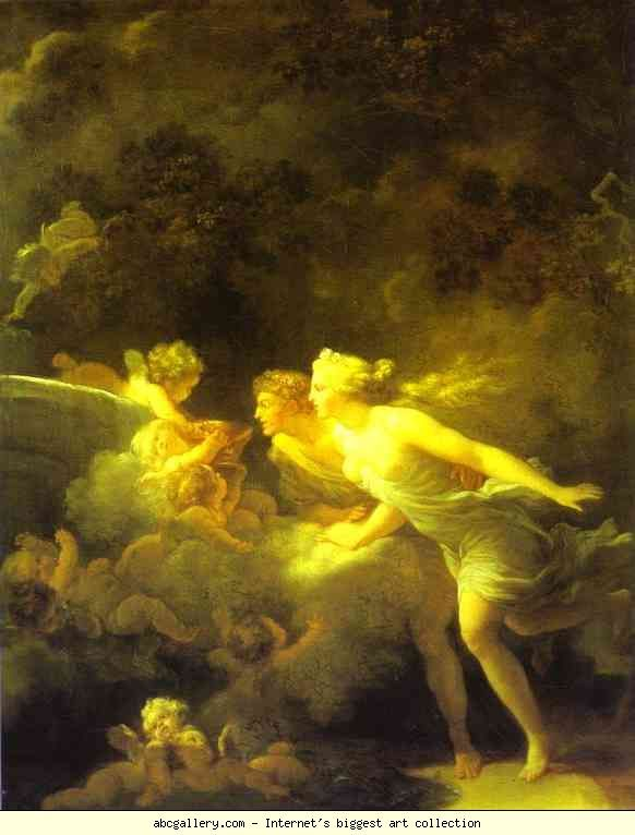 Jean-Honoré Fragonard. Fontaine d'amour.