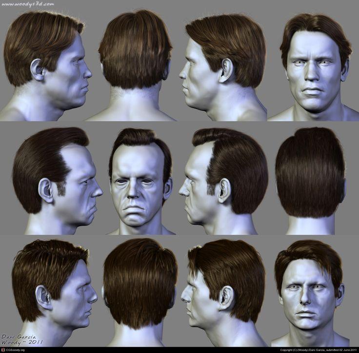 7 Hairstyles (3) by (Woody) Dani Garcia | 3D | CGSociety