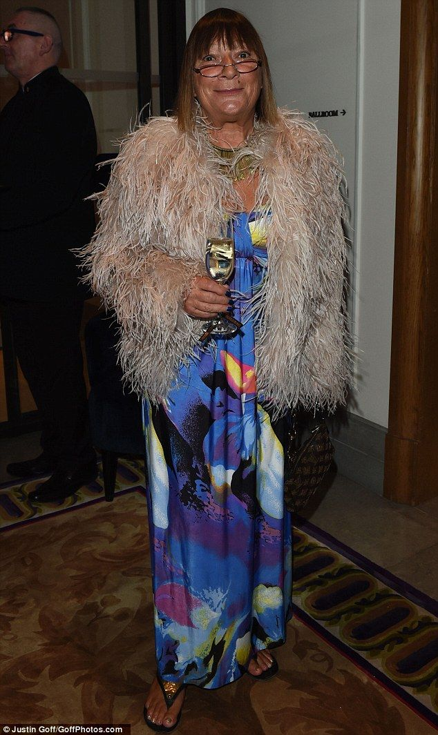 No holding back: Hilary Alexander went all out with her eccentric outfit...
