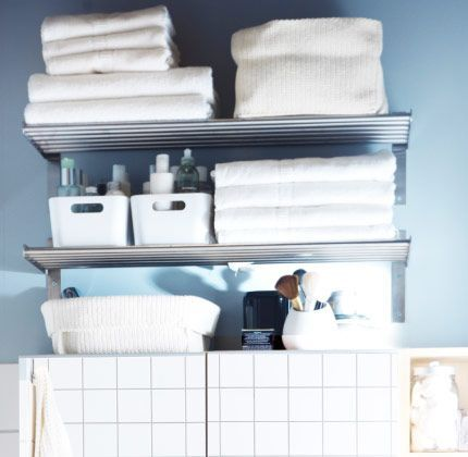 51 best ikea bathroom images on pinterest Towel storage ideas ikea