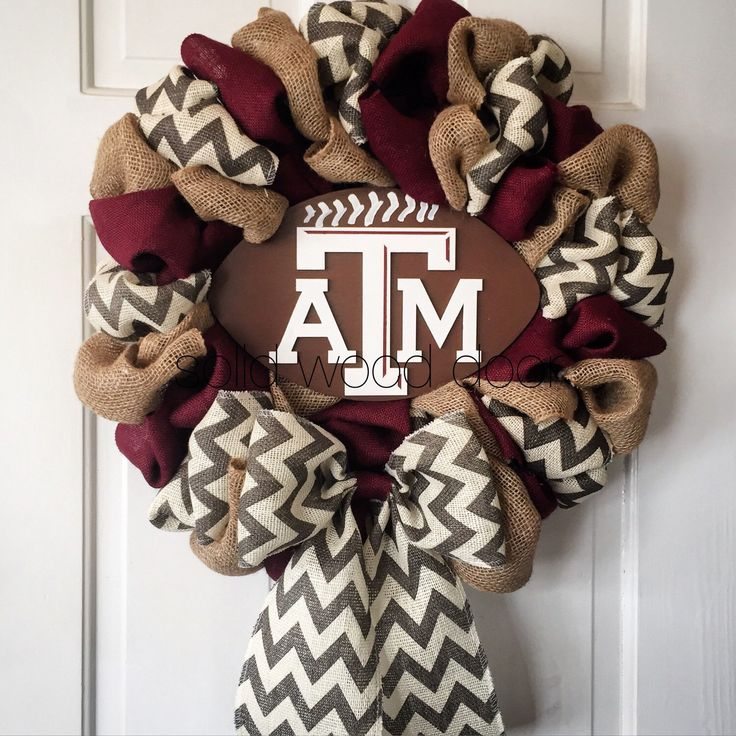 A personal favorite from my Etsy shop https://www.etsy.com/listing/249395132/22-summer-wreath-fall-football-wreath