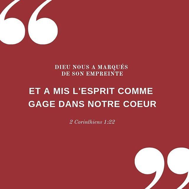 La Bible Verset Illustre 2 Corinthiens 1 22 Dieu Nous A Marques De Son Empreinte Et A Mis L Esprit Comme Gage La Bible Citations Bibliques Verset Du Jour