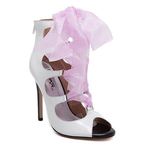 Party Women's Sandals With Peep Toe and Ribbon Design from 35.44$ by SAMMYDRESS