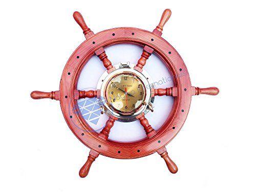 """24"""" Nautical Premium Pirate's Home Decor Natural Red Pine... http://www.amazon.com/dp/B01FFIU7FE/ref=cm_sw_r_pi_dp_YVEoxb1AG6E22"""