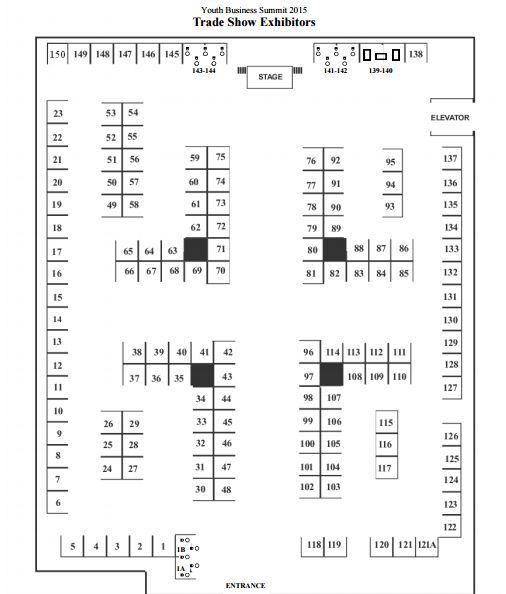 Booth floor plan for the 2015 nyc trade show we are booth for Trade show floor plan design