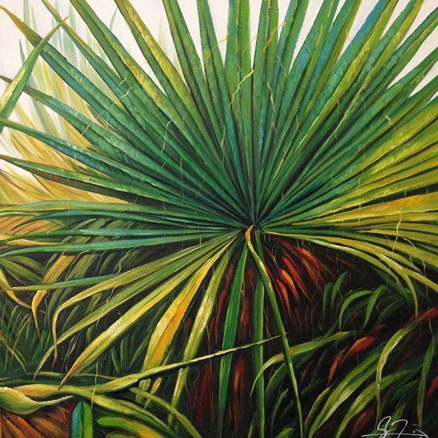 Art, plants, green, wall décor, painting, interior