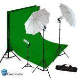 LimoStudio Video Photo ChromaKey Green Screen Light Kit 3 Point Studio Photography Lighting kit, AGG408