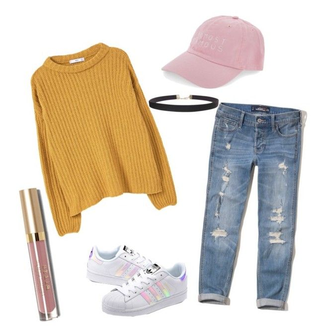 """Untitled #65"" by maddymackayyy on Polyvore featuring Hollister Co., adidas Originals, Nasaseasons, MANGO, Humble Chic and Stila"