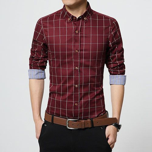 Item Type: Shirts Gender: Men Sleeve Length: Full Shirts Type: Casual Shirts Brand Name: LANGBEEYAR Collar: Turn-down Collar Fabric Type: Broadcloth Material: Cotton Style: Urban fashion Model Number: