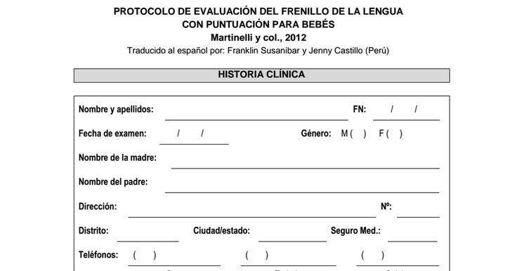 """Frenillo.PROTOCOLO_DE_EVALUACIÃ""""N_DELFRENILLO_DE_LA_LENGUA DE BEBES - ESPAÃ'OL.pdf"""