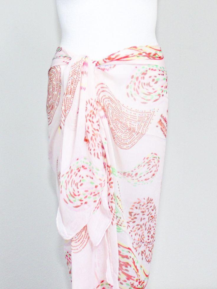 pareo, sarong, sjaal, badkleding, bikini, strand, vakantie, omslagdoek, rok, jurk, vakantie, print, kleuren, knopen, manieren