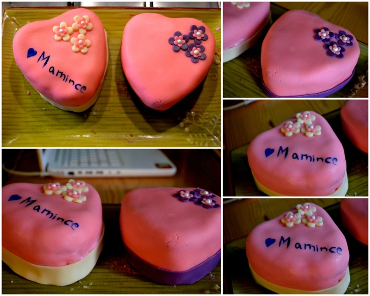 Mothers Day Cake #mothersdaycake #pinkheartcake
