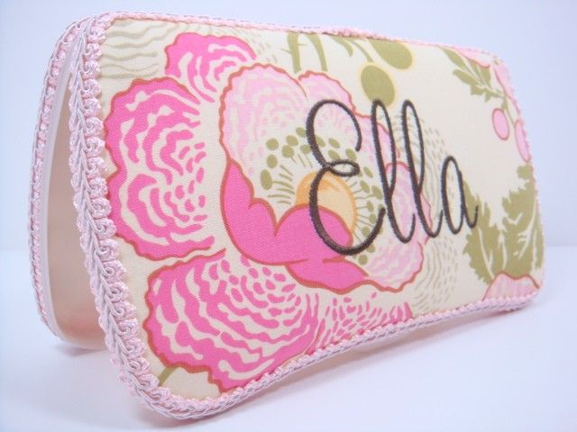 PERSONALIZED Diaper Wipes Case - Pink and Green Flowers Baby Wipe Case -  Baby Girl Shower Gift. $15.95, via Etsy.