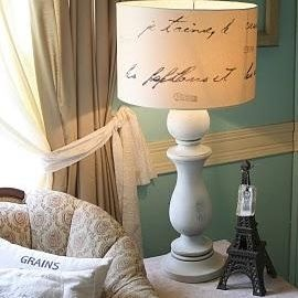 DIY lamp shade. They did this with a love letter but we