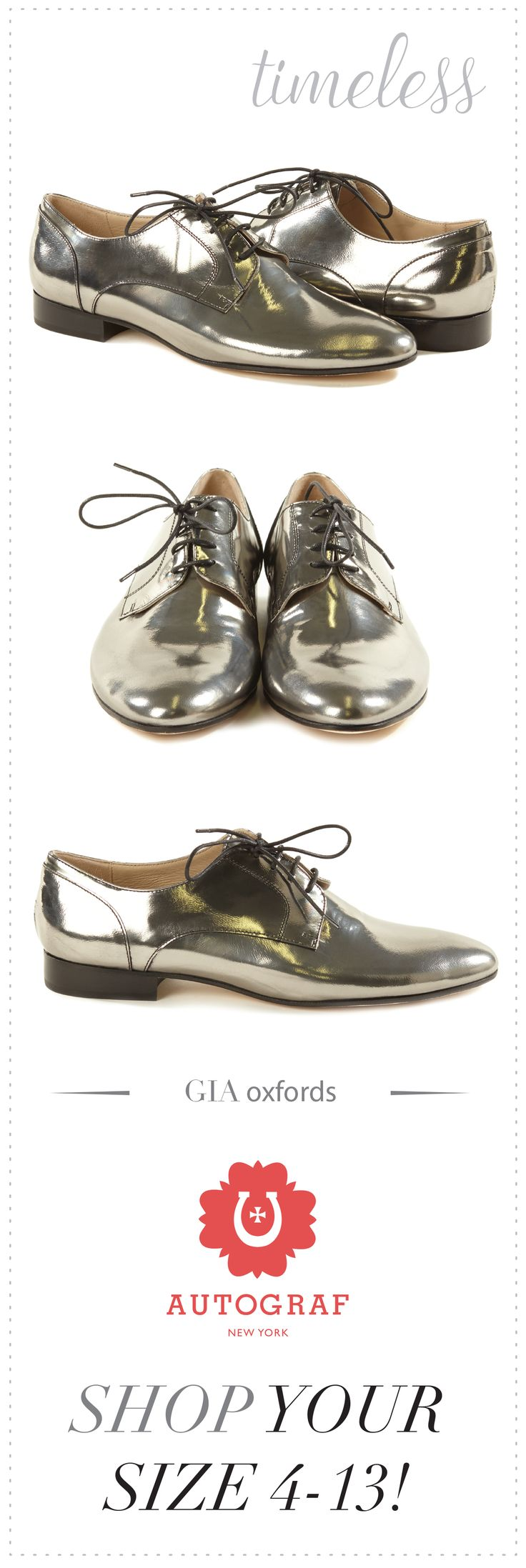 Women's Silver Oxfords. Fall 2015 Italian designer oxford shoes handmade to fit size 5,6,7,8,9,10,11,12,13. Ladies flat oxford shoes in pewter mirror metallic. Plus size shoes for women.