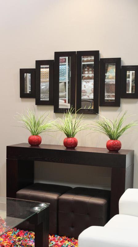 Consola wenge butacas y espejos decora decoracion del for Decoracion casa wengue