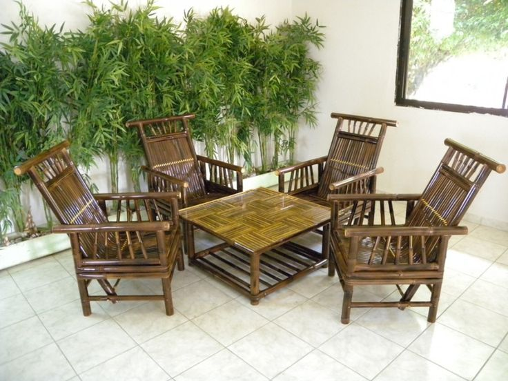 Simple Bamboo Living Room Furniture