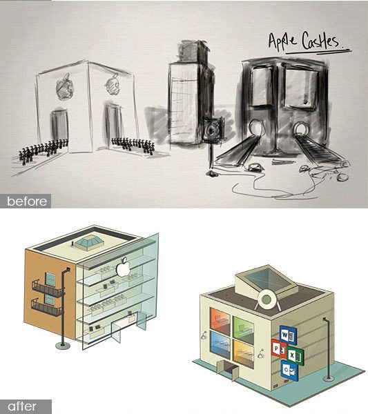 Before and Afters of our Ode to Prezi