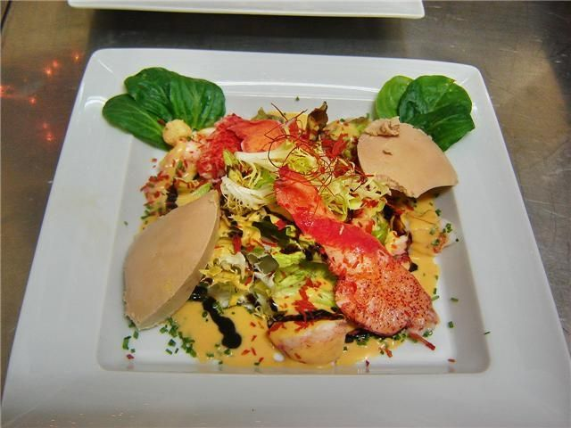 aux armes de france cuisine alsacienne salade de homard et foie gras cuisine alsacienne. Black Bedroom Furniture Sets. Home Design Ideas