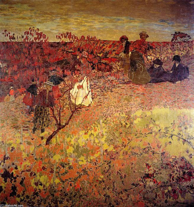 Edouard Vuillard - Promenade dans le vignoble, huile sur toile - 1900 - (Los Angeles County Museum of Art (United States))