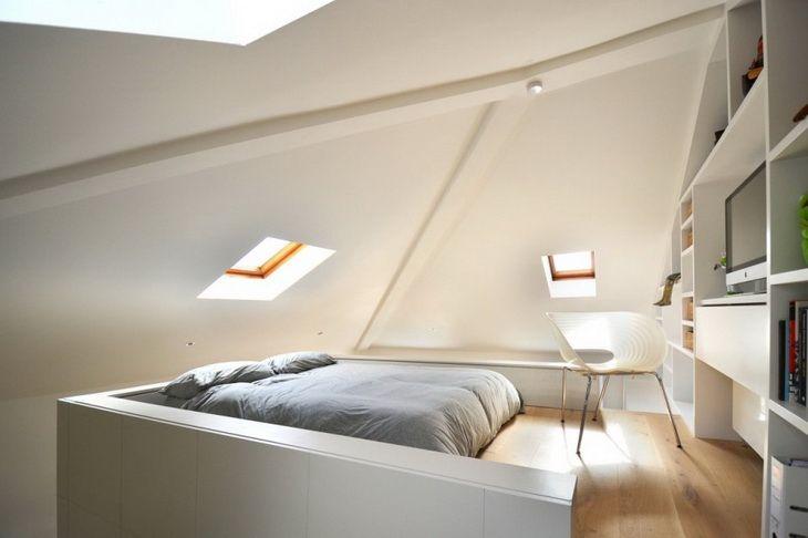 【立体的空間活用】高さを生かしたロフトのワンルーム | 住宅デザイン