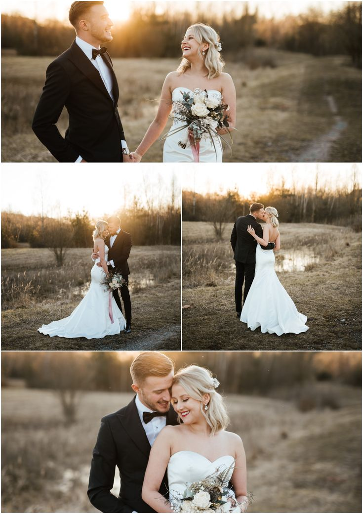 Sonnenuntergang nach Hochzeits-Trieb