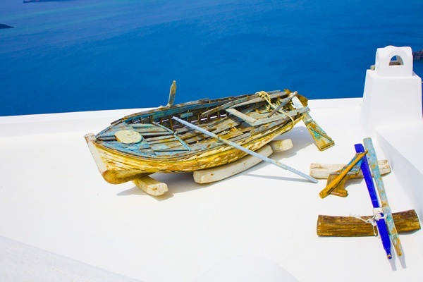 Santorini Island, Cyclades,Greece, Thira, Boat, Amazing Greece, Удивительная Греция